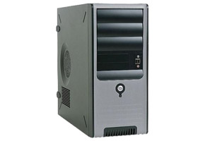 Корпус microBTX Miditower InWin BC-583 (черный, 400W, USB, Audio, Fan)