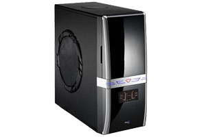 "Корпус ATX MidiTower AeroCool T-Gun EN52481 (черн., без БП, 5""4ext, 3""1ext+1int, 2USB2.0, audio, mic, eSATA, Fan 25sm)"