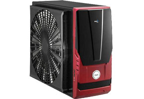 "Корпус ATX MidiTower AeroCool AeroRacer (черн./красн., без БП, 5""4ext, 3""1ext+1int, 2USB2.0, 2audio, Fan 120)"