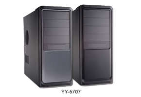 "Корпус ATX MidiTower Yeong Yang YY-5707 B/GT (черн./серый, P4 ready, 450W SuperPower, 5""4ext, 3""2ext+4int, USB, 1394, audio, 2x12см FAN)"