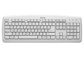 Клавиатура PS/2 Chicony KB-0325-W Slim, 104кл