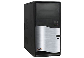 "Корпус microATX MiniTower Superpower/Cat/Codegen M105-A11 (серебр./черн., 450W, 5""2ext, 3""2ext+6int, 2USB, audio, mic)"