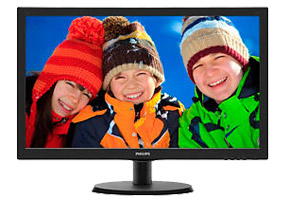 "Монитор 21.5"" Philips 223V5LSB/00(01) (черн., 1920x1080 LED, 0.248, 250cd/m2, 1000:1(DC 10M:1), 5ms, D-Sub, DVI-D)"