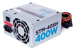 Блок питания ATX 400W STM-40SH (ATX12V, 20/24+4/8pin, 2HDD, 2SATA, fan 80mm)