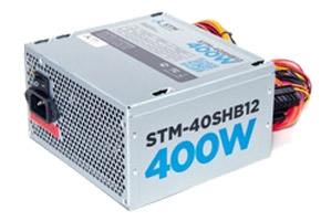 Блок питания ATX 400W STM-40SHB12 (ATX12V, 24(20+4)+8(4+4)pin, 2HDD, 2SATA, fan 120mm)