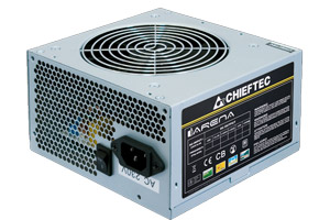 Блок питания ATX 350W Chieftec GPA-350S8 i-Arena (APFC, ATX 12V V2.3, 20/24+4pin, 2HDD, 1FDD, 3SATA, Fan 120mm)