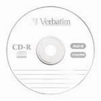 Диск CD-R 700 Мб/ 80мин Verbatim 52x, DL, Extra Protection Surface, Slim Case  43347/43415/43348