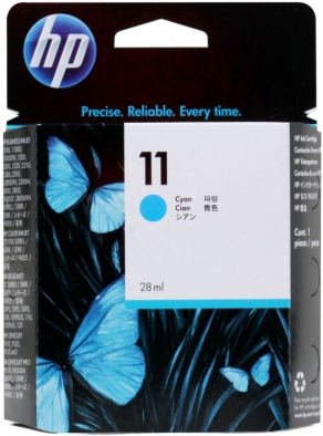 Картридж струйный HP №11 C4836A голубой (cyan) для HP DesignJet 20/100/110/111/120, Business InkJet 1000/1100/1200/2300/2800, OfficeJet K850/9120 (28 мл)