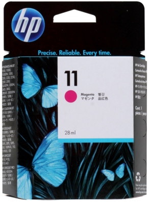 Картридж струйный HP №11 C4837A красный (magenta) для HP DesignJet 20/100/110/111/120, Business InkJet 1000/1100/1200/2300/2800, OfficeJet K850/9120 (28 мл)