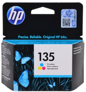 Картридж струйный HP №135 C8766HE цветной (color) для HP DeskJet 6543/5743/5740/6843/PSC1513/PS325/375/8153/3183/8453/2253/psc1500/PSM8753/H470/460C/PhotoSmart D4163/5063/OfficeJet100 (станд.емк.5 мл)