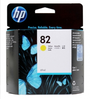 Картридж струйный HP №82 C4913A желтый (yellow) для HP DesignJet 10/20/50/100/120/500/510/800/815/820 (69ml, 1750 стр.)