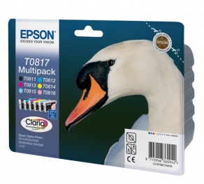 Комплект - для Epson Stylus R270/290/295/390/RX585/590/1410/610/615/690/TX650/659/700W/710W/T50/T59 (6-ти цветный: black, magenta, cyan, yellow,  light magenta, light cyan) C13T11174A10/C13T08174
