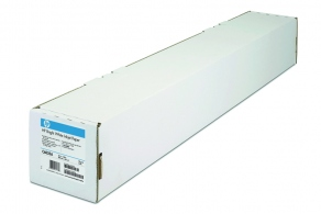 Бумага HP Bright White InkJet Paper 610 мм*45.7м  (рулон А1), 90г/кв.м  C6035A