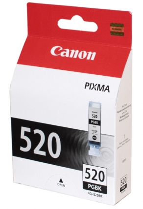 Картридж струйный Canon PGI-520BK черный (pigment black) для Canon Pixma iP3600/4600/4700, MP540/550/620/630/640/980/990, MX860/870 (19 мл) 2932B004