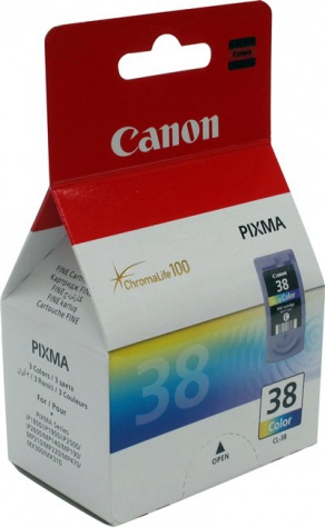 Картридж струйный Canon CL-38 цветной для Canon Pixma IP1800/1900/2500/2600/MP140/190/210/220/470/MX300/310 (3ml x 3, 205 стр.) 2146B005