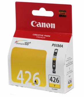 Картридж струйный Canon CLI-426Y желтый (yellow) для Canon Pixma  iP4840/4940/MG5140/5240/6140/8140/ 4559B001