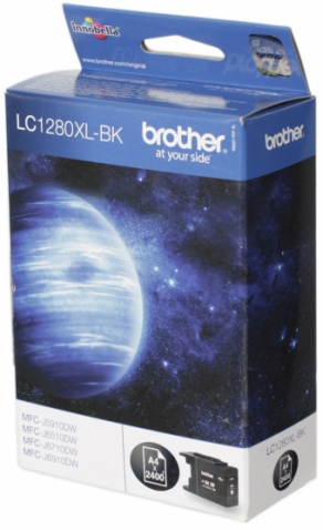 Картридж струйный Brother LC1280XLBK черный (black) для Brother MFC-J5910DW/6510DW/6910DW (2400 стр.)