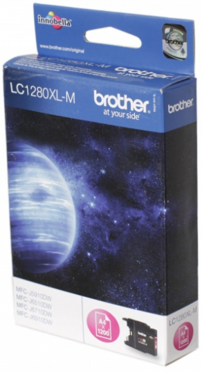 Картридж струйный Brother LC1280XLM красный (magenta) для Brother MFC-J5910DW/6510DW/6910DW (1200 стр.)