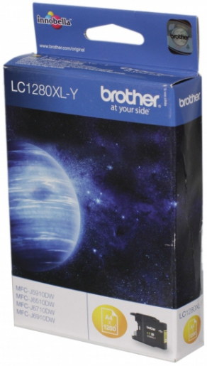 Картридж струйный Brother LC1280XLY желтый (yellow) для Brother MFC-J5910DW/6510DW/6910DW (1200 стр.)