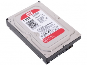 Жесткий диск SATA-III 1TB Western Digital Red WD10EFRX (for NAS, IntelliPower, cache 64MB)