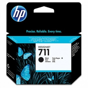 Картридж струйный HP №711 CZ133A черный (black) для HP DesignJet T120/T520 (80ml)