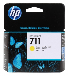 Картридж струйный HP №711 CZ132A желтый (yellow) для HP DesignJet T120/T520 (29ml)