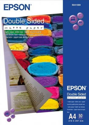 Бумага Epson Double Sided Matte Paper  A4, 178 г/кв.м. (50 л)  C13S041569