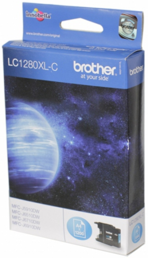 Картридж струйный Brother LC1280XLC голубой (cyan) для Brother MFC-J5910DW/6510DW/6910DW (1200 стр.)