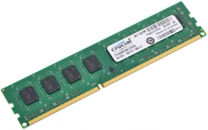 Модуль памяти DIMM DDR3 4GB PC12800 1600MHz CL11 Dual Rank Crucial CT51264BA160B