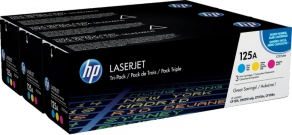Тонер-картридж HP CF372AM Комплект 3-Pack для HP Color LaserJet CP2025/CM2320 (Cyan, Yellow, Magenta, 2800 стр.)