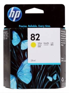 Картридж струйный HP №82 CH568A желтый (yellow) для HP DesignJet 500/510/800 (28ml)