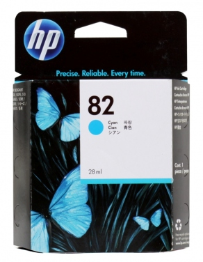 Картридж струйный HP №82 CH566A голубой (cyan) для HP DesignJet 500/510/800 (28ml)