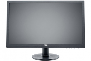 "Монитор 24"" AOC E2460Sh (черн., audio, 1920x1080 WLED, 250cd/m2, 1000:1 (DCR 20M:1), 1ms, D-Sub, DVI, HDMI, колонки)"