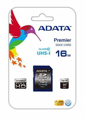 Карта памяти SDHC Card 16GB A-DATA Class 10 UHS-I ASDH16GUICL10-R