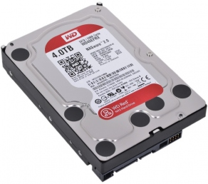 Жесткий диск SATA-III 4TB Western Digital Red WD40EFRX (for NAS, IntelliPower, cache 64MB)