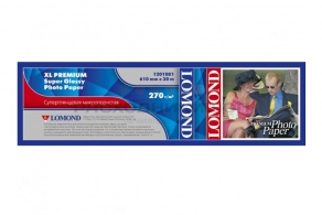 Бумага Lomond XL Premium Super Glossy Photo Paper 610 мм х 30м, 270 г/кв.м. 1201081