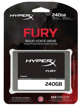 "Накопитель SSD 240Gb Kingston SATAIII 2.5"" Solid State Drive HyperX FURY Series SHFS37A/240G"