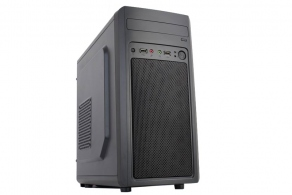 "Корпус microATX MiniTower Accord M-02B (черн., без БП, 5""1ext, 3""4int, 2USB2.0, audio, mic)"
