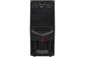 "Корпус ATX MidiTower Accord P-26B (черн., без БП, 5""3ext, 3""1ext+4int, 2USB2.0, Audio, Mic)"