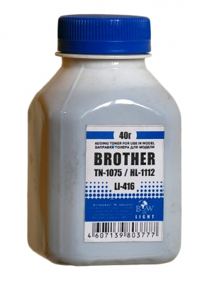 Тонер для Brother HL-1110/1112, DCP-1510/1512, MFC-1810/1815 (картридж TN-1075) (40 гр.) B&W Light LI-416