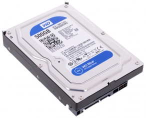 Жесткий диск SATA-III 500GB Western Digital Blue WD5000AZRZ (5400rpm, 64MB Cache)