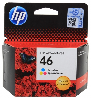 Картридж струйный HP №46 CZ638AE цветной для DeskJet Ink Advantage 2020hc /2520hc (750 стр.)
