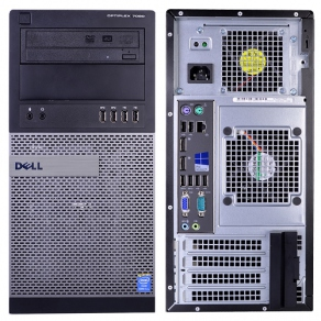 Системный блок Dell Optiplex 7020-1901 (Core i5-4590(3.3), DDR3 1600 4GB, 500GB, HD 4600, DVDRW, LAN, 6USB2.0, 4USB3.0, Linux, клав, мышь)