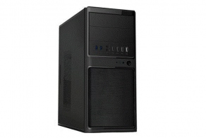 "Корпус microATX MiniTower PowerCool S6012-U3 (черн., ATX12V v2.3, 450W, 5""2ext, 3""2int, 2""1int, 4USB2.0+2USB3.0, 2audio, Fan 80mm)"