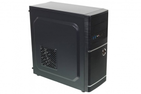 "Корпус ATX MidiTower Accord ACC-B301 (черн., без БП, 5""2ext, 3""2int, 2""2int, 2USB3.0+2USB2.0, Audio, Mic)"