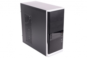 "Корпус ATX MidiTower Foxline FL-942-FZ450R (серебр./черн., 450W, 5""4ext, 3""2ext+4int, 2USB, Fan 80mm)"