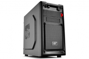"Корпус microATX/ mini-ITX MiniTower DeepCool SMARTER (черн, без БП, 5""1ext, 3""1ext+2int, 2""1int, USB2.0, USB3.0, mic, audio)"