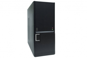 "Корпус ATX MidiTower Foxline FL-401-FZ450R (серебр./черн., 450W, 5""4ext, 3""1ext+4int, 2USB2.0)"