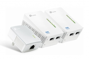 Точка доступа TP-Link TL-WPA4220T KIT AV500 Powerline 300 M Wi-Fi Extender/Wi-Fi Booster/Hotspot with Two Ethernet Ports, Three Units Pack