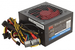 Блок питания ATX 500W 3Cott-500-EVO2 (ATX V2.3, 20/24+4/8pin, 4SATA, 1FDD, 3HDD, 1x6/8pin PCIE, Fan 120mm)